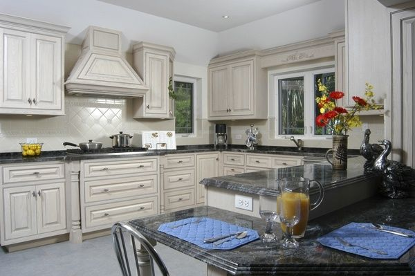 White Kitchen Cabinets With Grey Glaze