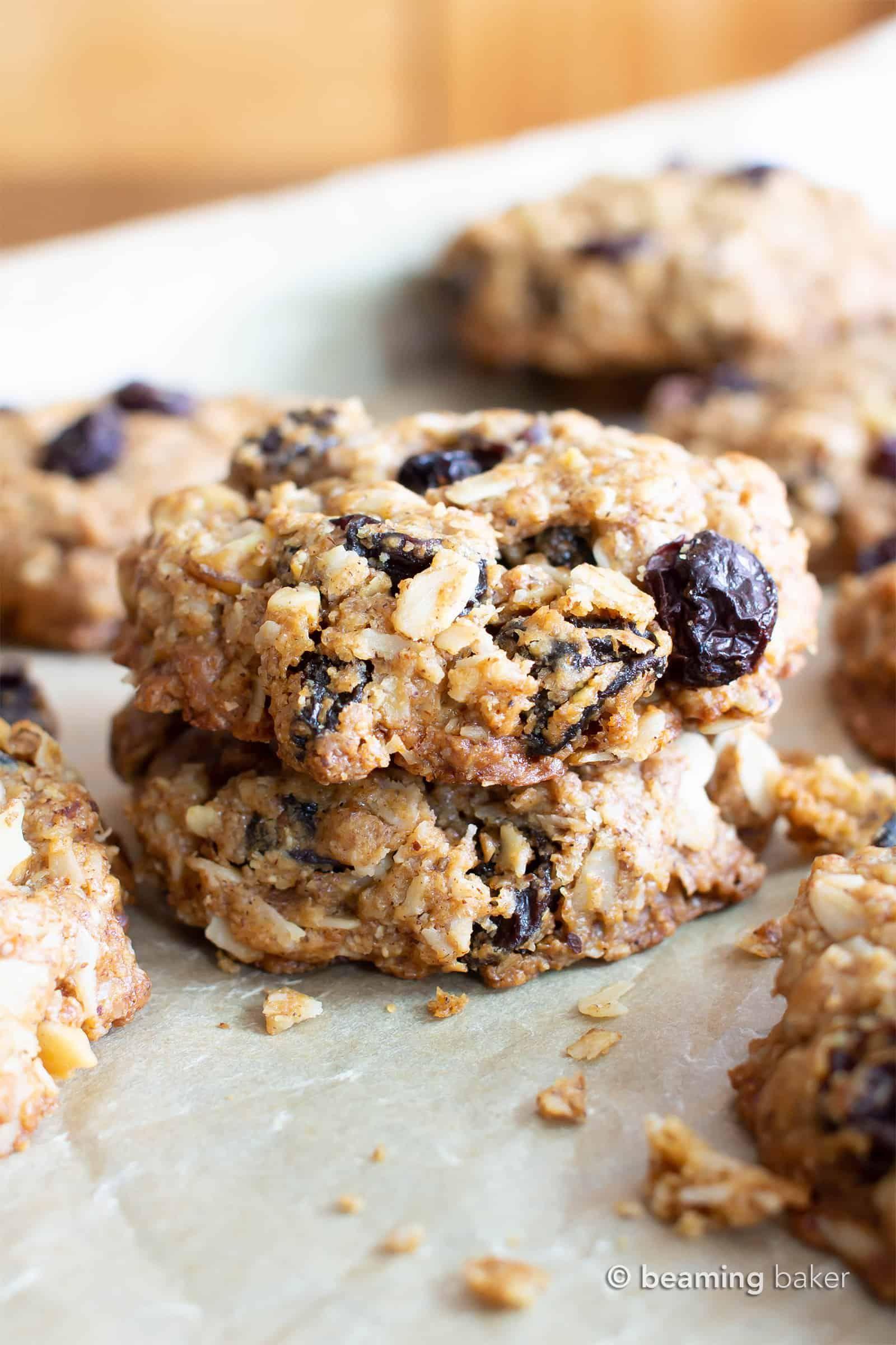 Amazing chewy vegan oatmeal raisin cookies gluten free