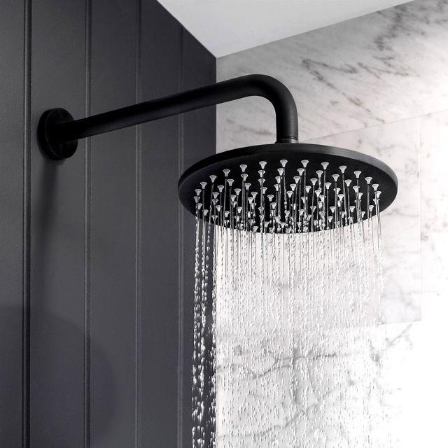 Crosswater MPRO Matt Black Shower Head Black bathroom