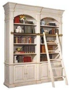 Bookcase Design For Beside Fireplace Bordeaux Double Library Unit