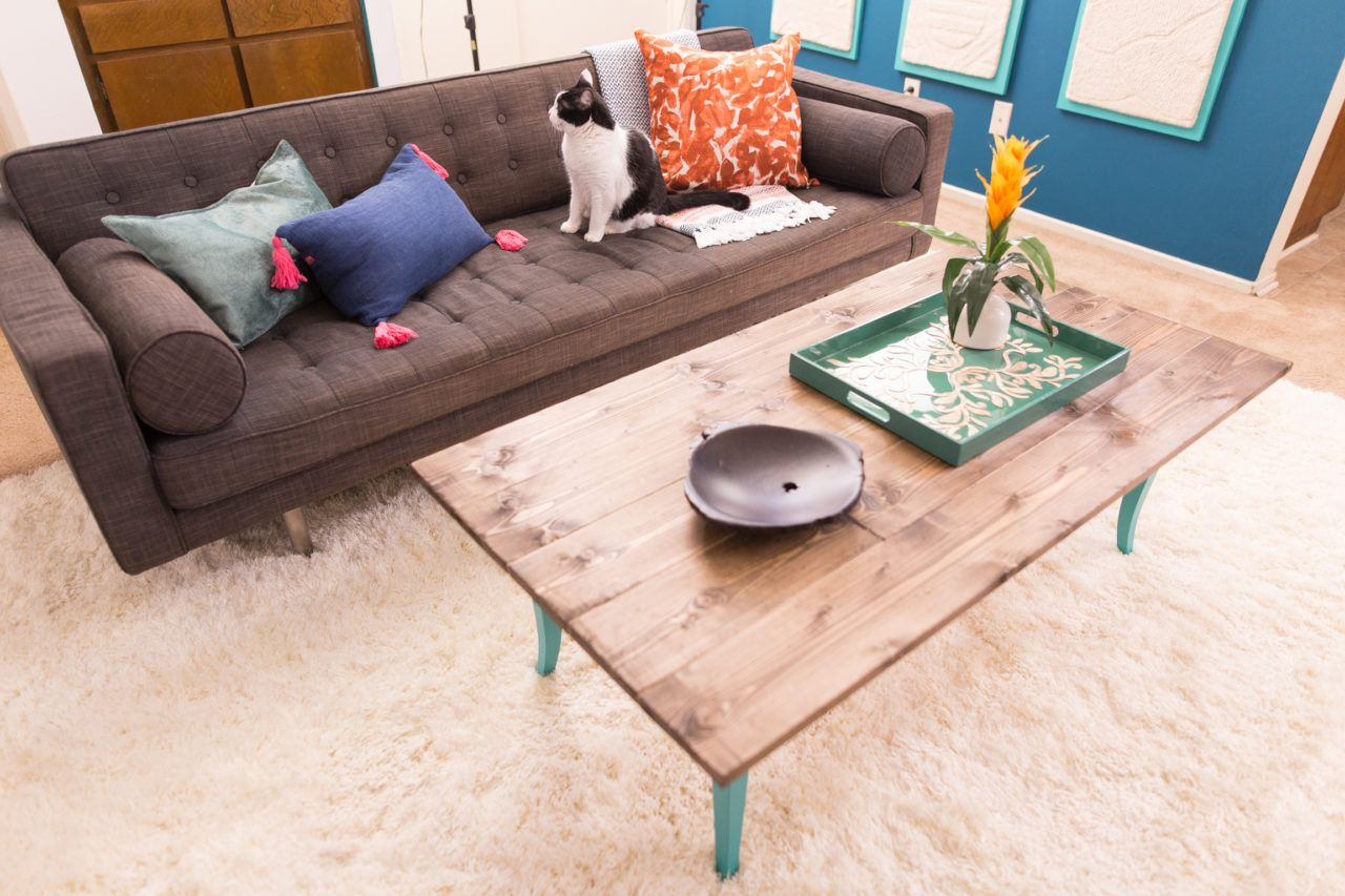 Diy upcycled bohemian coffee table table home projects