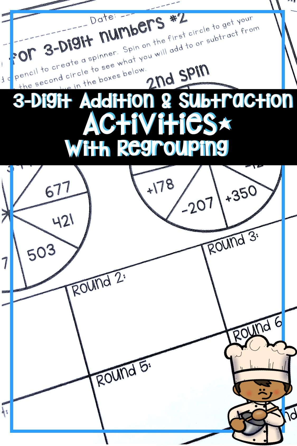 3 Digit Addition And Subtraction With Regrouping