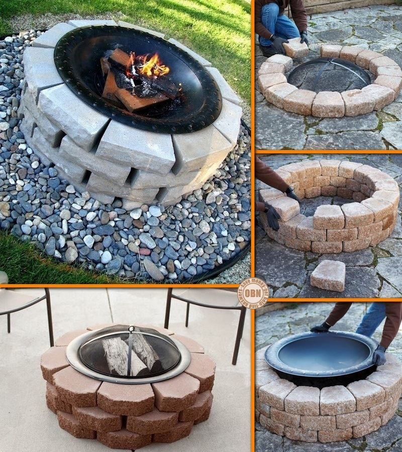 diy fire pit ideas pinterest chimenea exterior brasero de jard n y adornos rusticos. Black Bedroom Furniture Sets. Home Design Ideas