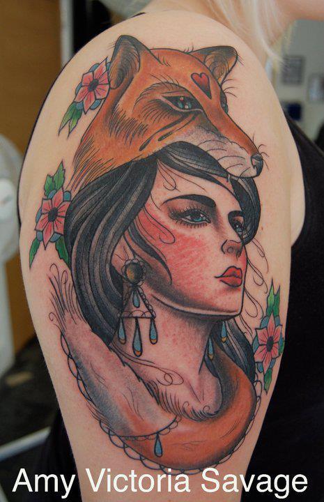 Foxy Tattoo Female Face Drawing Tattoos I Tattoo