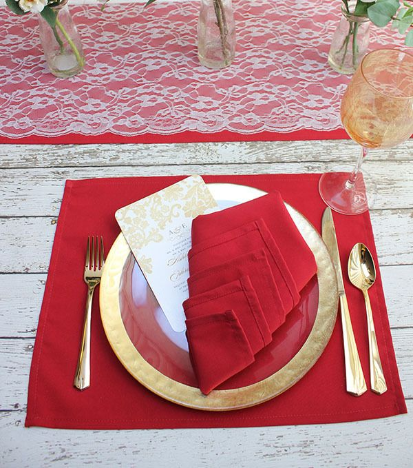 Red Placemat Organic Bedding Fabric Placemats Grey Placemats