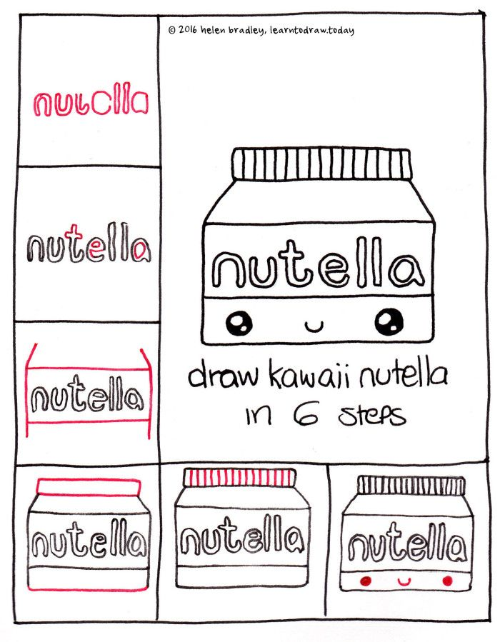 Nutella d pinterest nutella drawings and kawaii for Easy drawing websites
