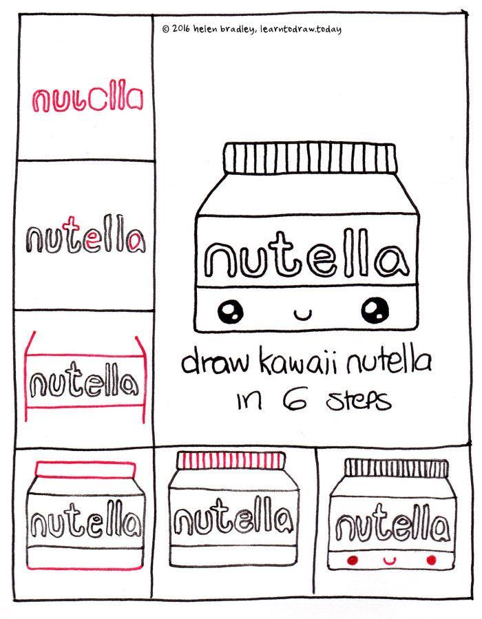 Coloriage Kawaii Nutella A Imprimer.Dessin Pot De Nutella Dessins Simple A Realiser Drawings Kawaii