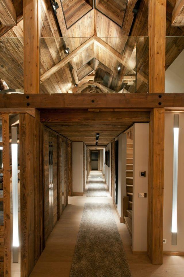 zwei etagen-maisonette wohnung-holzbalken rustikale treppe ...