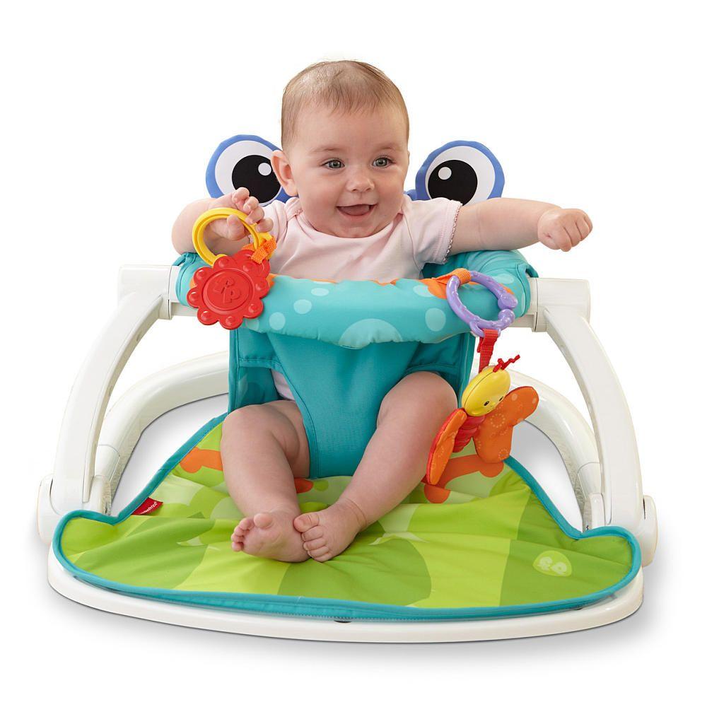 Fisher Price Sit Me Up Floor Seat Citrus Frog Cmh49 Floor