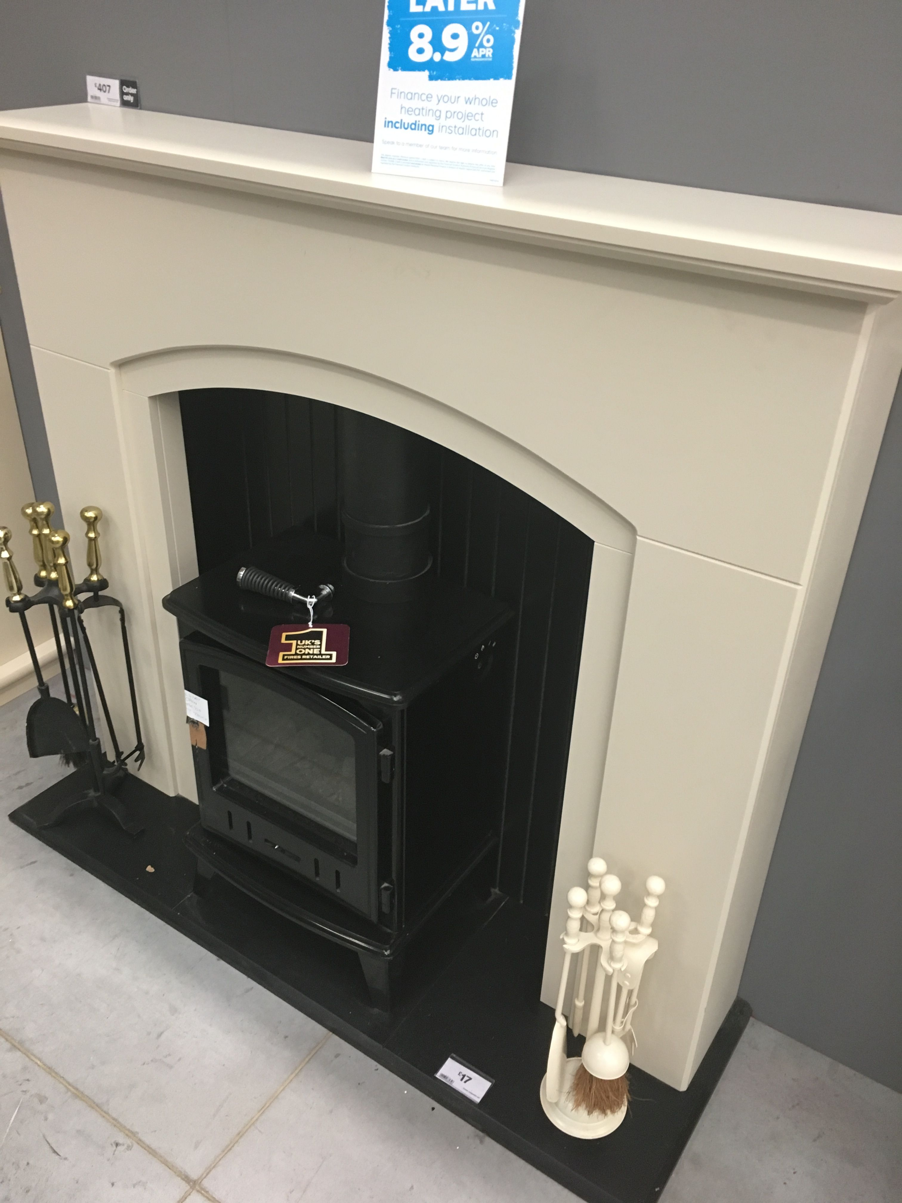 Rotherham Black Led Electric Stove Suite B Q Fires Electric