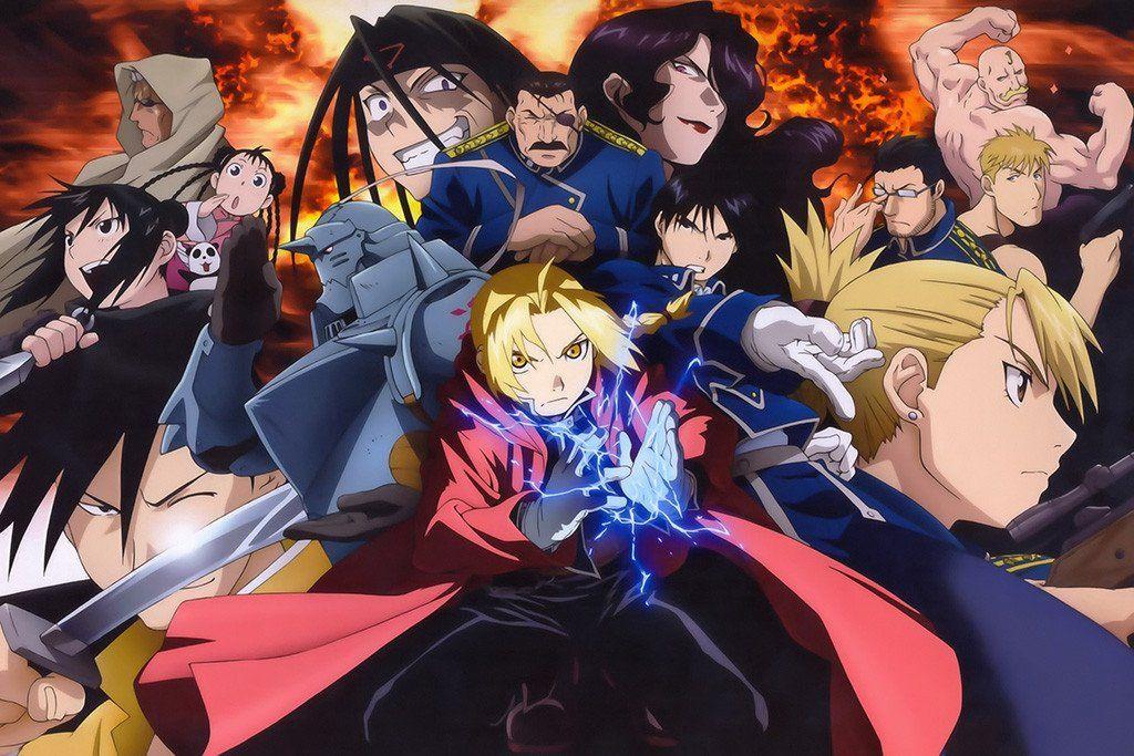 Fullmetal Alchemist Brotherhood Characters Anime Poster