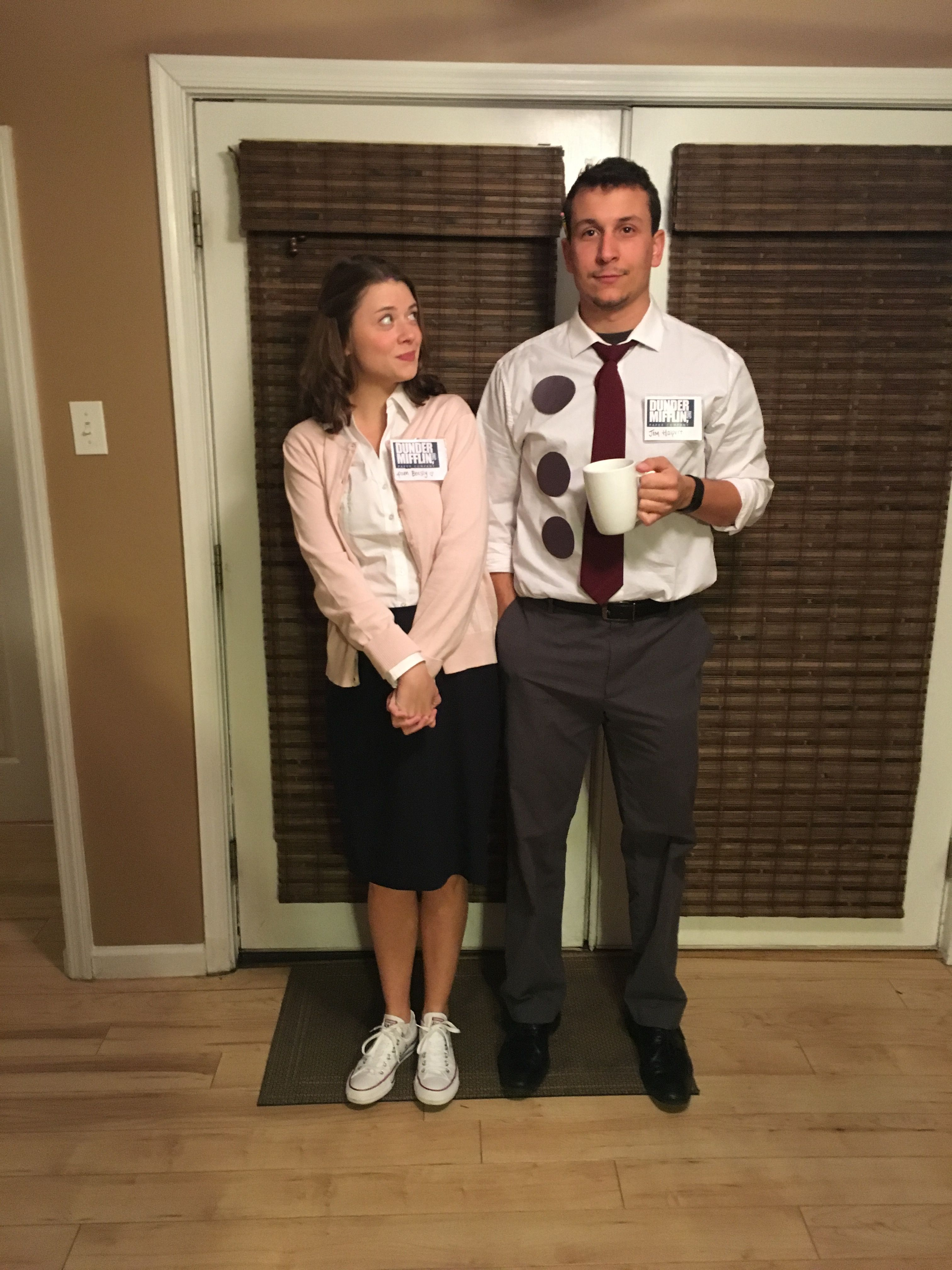 The Office  Halloween Costume- Jim and Pam Couple.    sc 1 st  Pinterest & The Office