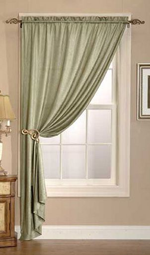 Madison Park Eliza Faux Silk Curtain Panel Overstock