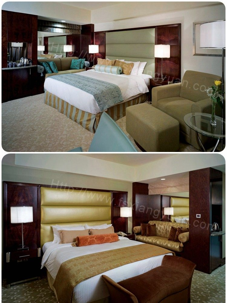 Twin Bed Hotel Room: OEM Outsourcing Deluxe Twin Ash Wood New Model Modern