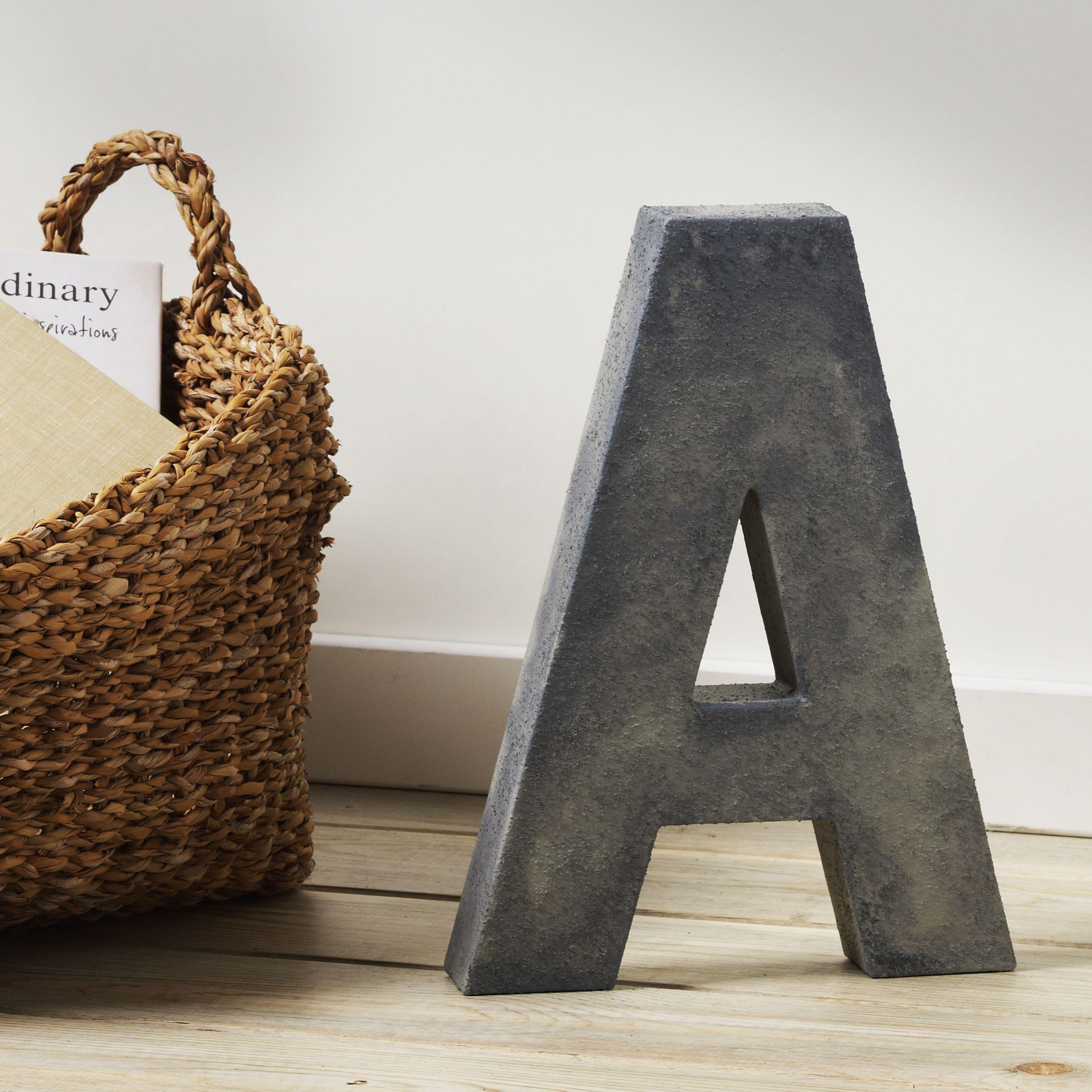 Plaid Folkart Concrete Paper Mache Letter Paper Mache Letters Cement Crafts Paper Mache
