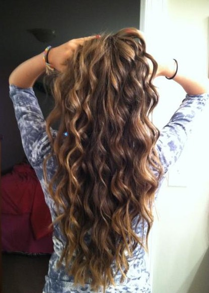 Curly Hairstyle To Have Beach Waves Tutorials Pretty Designs Hair Styles Long Thick Hair Thick Hair Styles
