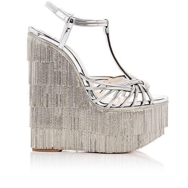 Christian Louboutin Women\u0027s Espelio Zep Platform-Wedge Sandals ($5,495) ?  liked on Polyvore