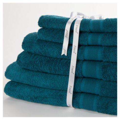 Peacock Blue Towels In 2019 Towel Blue Towels Tesco Direct