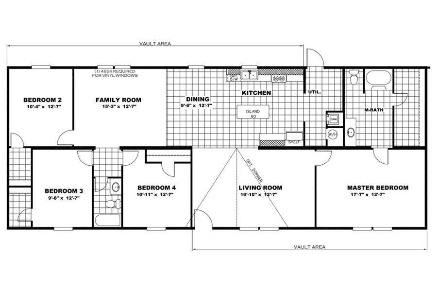 floorplan the tyson | 97tru28684rh | clayton homes of oklahoma