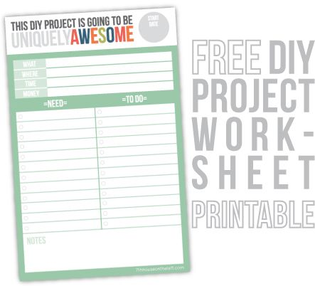 PLANNING \ BUDGETING PROJECTS 101 + a free DIY project work-sheet - project planning