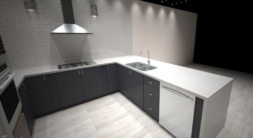 3D Computer Rendering of a Kitchen Design (With images ...