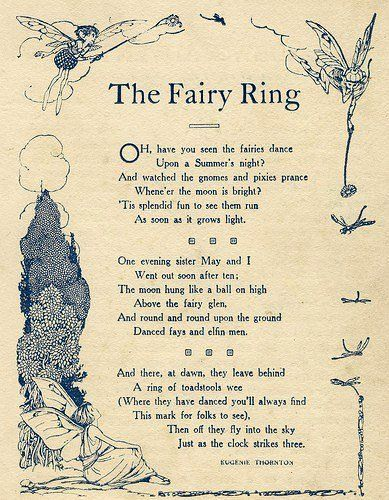 Magical Poem - The Fairy Ring Leave Room In Your Garden For The ...
