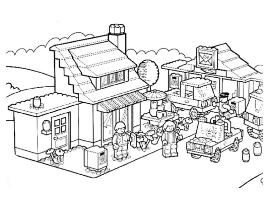 lego house coloring pages | Lego coloring pages, Lego ...