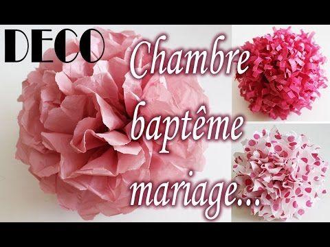 Tuto Deco Clair Fleur Papier Soie Chambre Bapteme Mariage