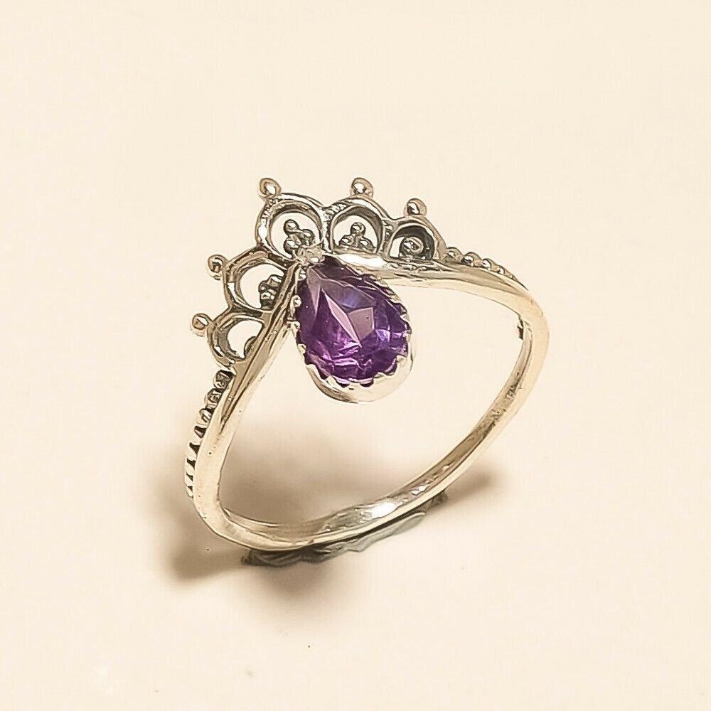 Amethyst ring Sterling silver ring Details about  /Amethyst gemstone ring Statement ring