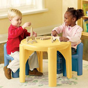 Little Tikes Table and Chair Set, Blue and Yellow | AJ\'s Room ...