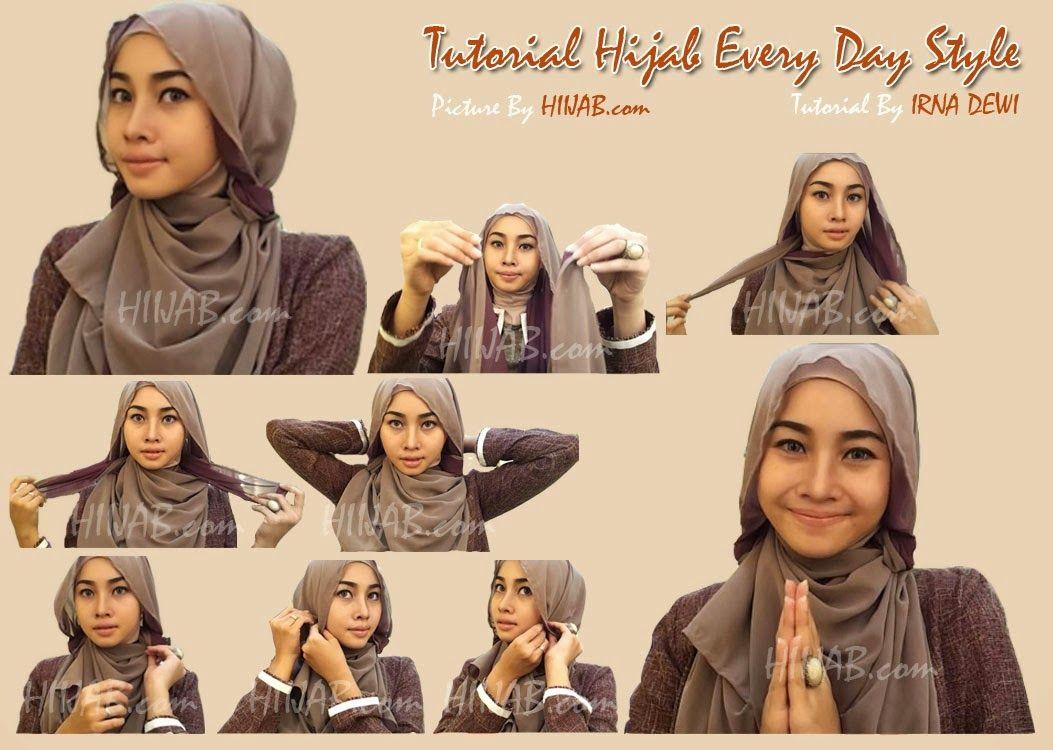 Download Video Tutorial Hijab Segi Empat Simple Dan Modis Wajah Hijab Gaya Hijab