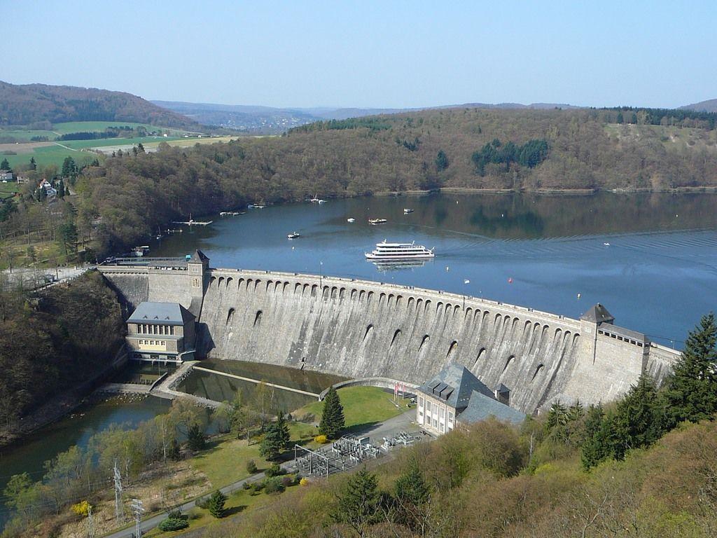 Waldeck, Hesse : Edersee Dam