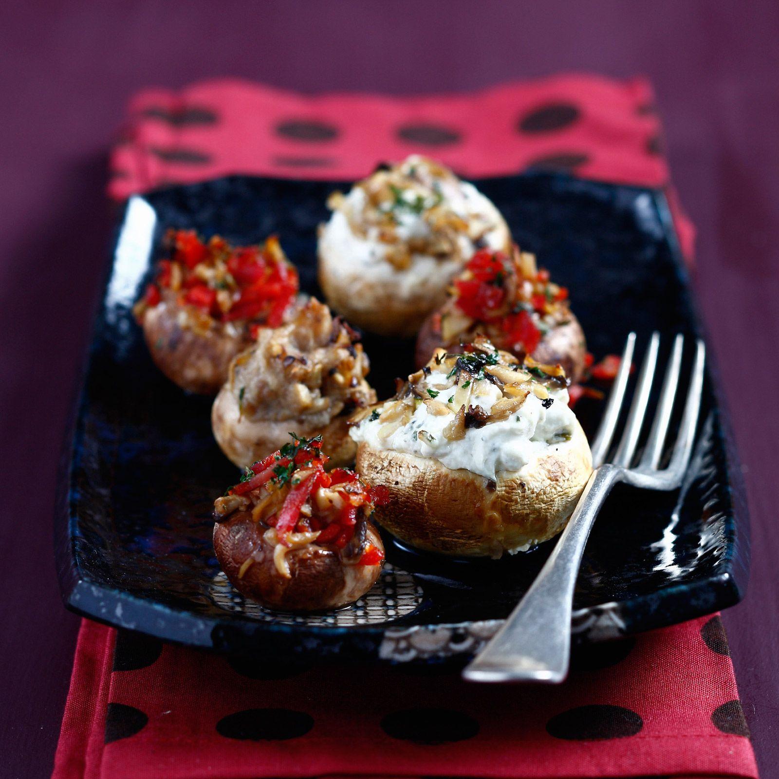 Champignons farcis au chorizo et au fromage frais ...