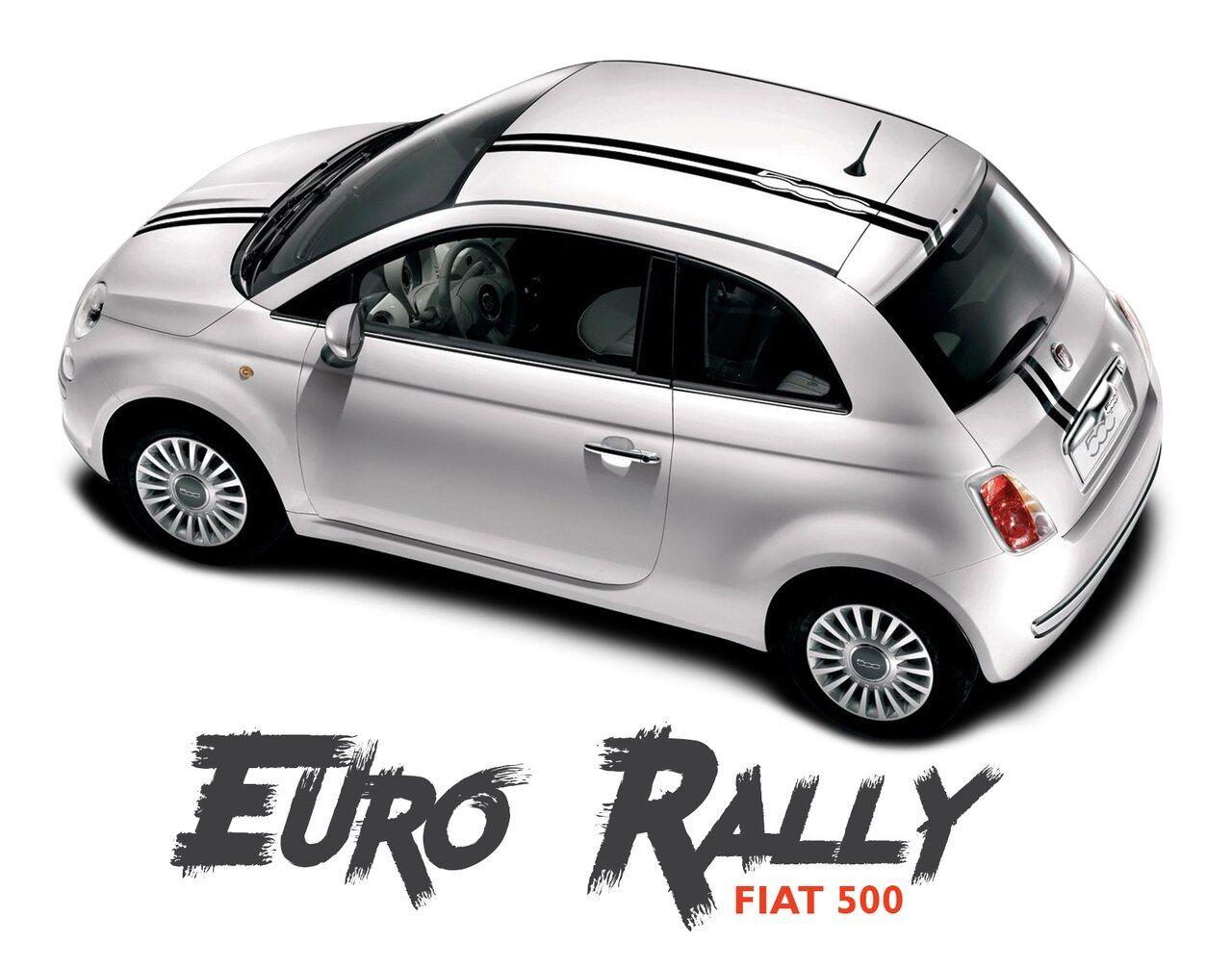 Fiat 500 Euro Rally Offset Hood Roof Racing Vinyl Graphics Stripes Decals Kit For 2007 2018 Models Fiat 500 Vinyl Graphics Fiat [ 1006 x 1280 Pixel ]