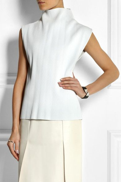 JW Anderson fribbed leather top