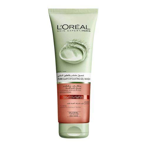 غسول مقشر بالطين النقي من لوريال 150مل متجر راق Pure Products Loreal Shampoo Bottle