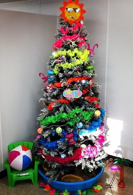Summer Tree At Work Cd Decorations Christmas Tree