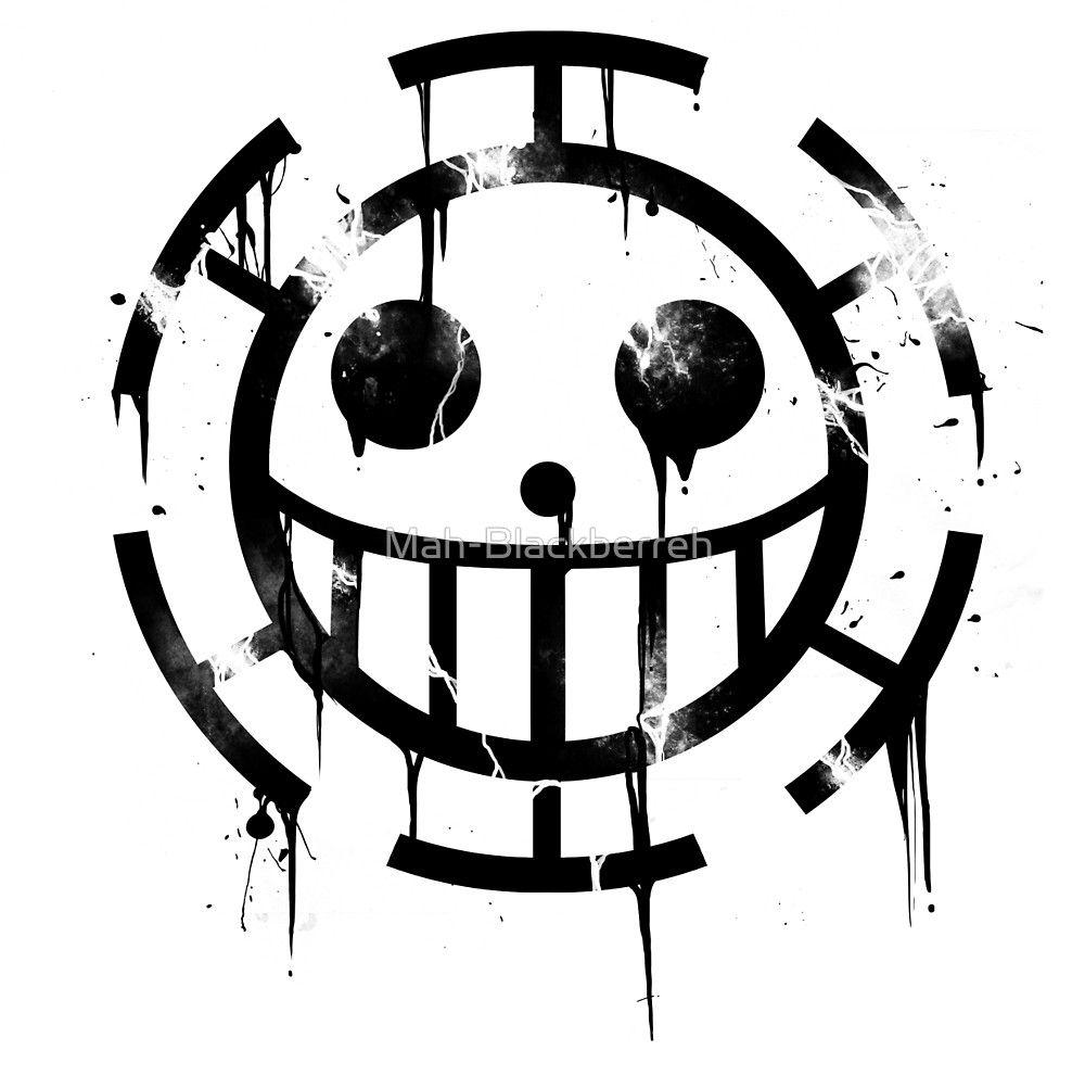 Heart Pirates Black By Mah Blackberreh One Piece Tattoos Anime Tattoos One Piece Logo