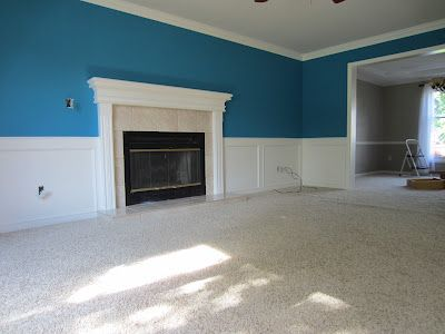 Blue 11 Interiors Living Room Paint Makeover White Wainscoting Living Room Paint Room Paint