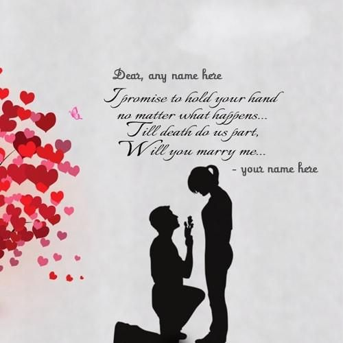 propose day will you marry me quote images with name editor ...