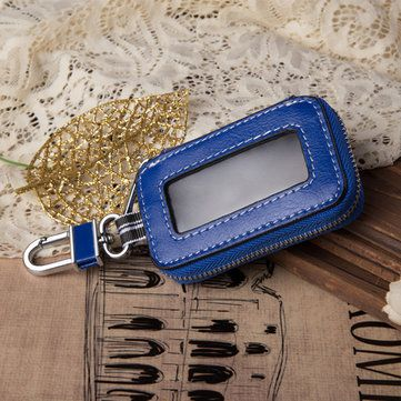 8 62 Usd Genuine Leather Car Key Holder Hanging Portable Keychain Covers Pouch Purse Key Bag Blue Car Key Holder Key Holder Key Bag