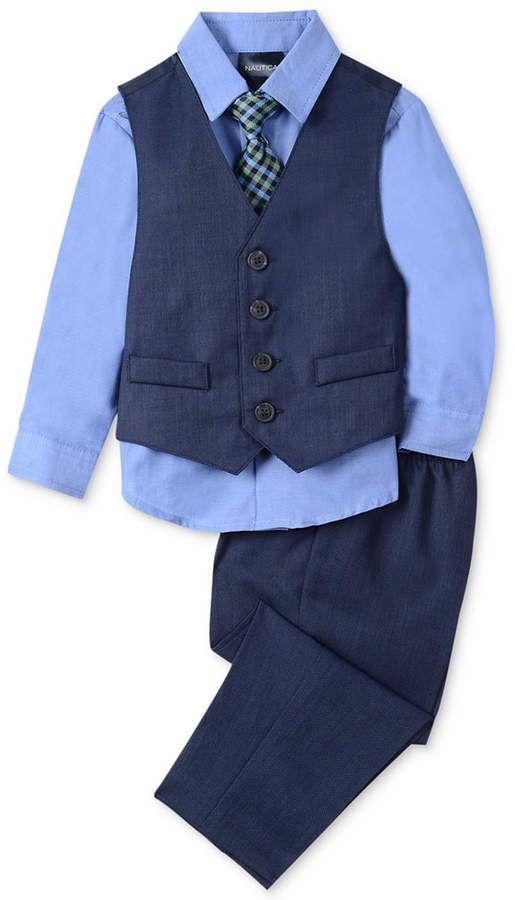 4aa5089d33a9 Nautica Baby Boys 4-Pc. Vest