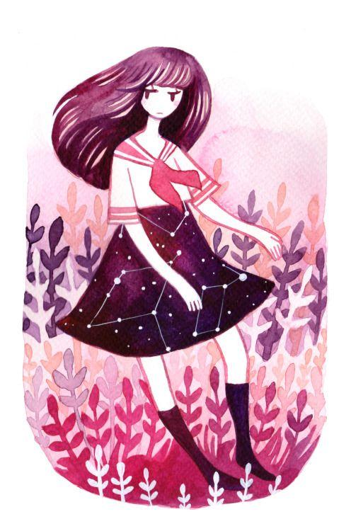 Altair Vega Whimsical Illustration Cute Art Motivational Art