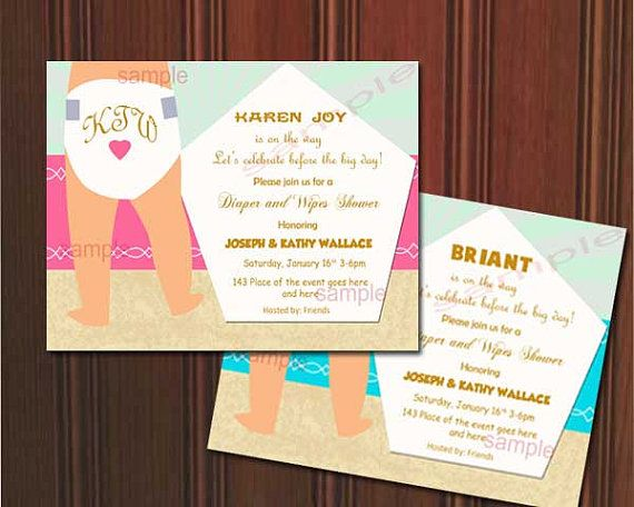 Superior Diaper And Wipes Baby Shower Invitation. Baby Shower Invite. Digital (you  Print)