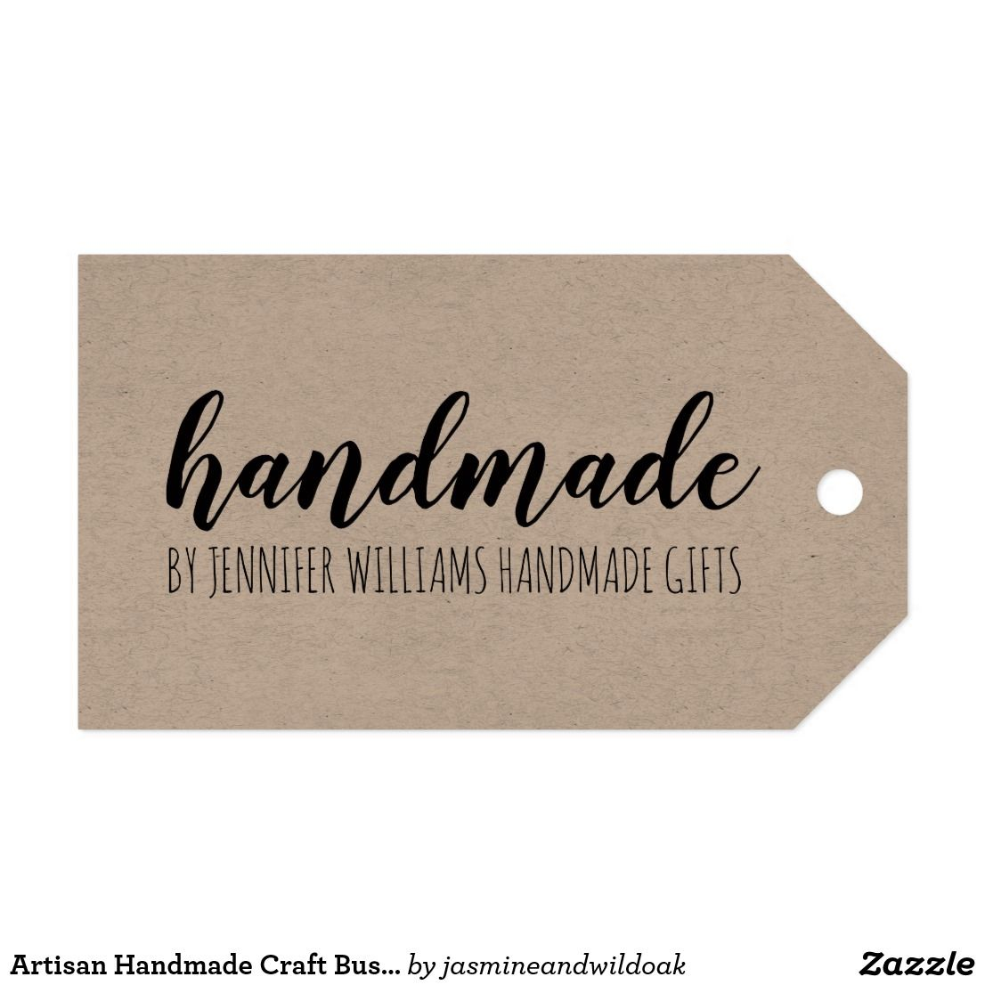 Artisan Handmade Craft Business Product Hang Tag Zazzle
