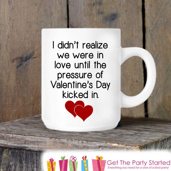 Valentine's Coffee Mug Funny Valentine's Day Novelty Ceramic Mug... ($13) ❤ liked on Polyvore featuring home, kitchen & dining, drinkware, drink & barware, home & living, mugs, silver, ceramic mugs, ceramic coffee mugs and valentine coffee cups
