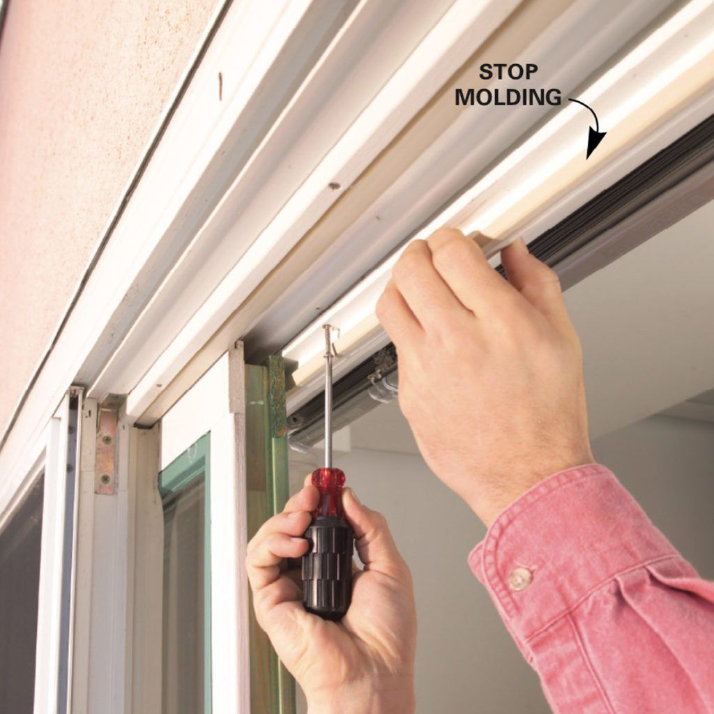 How to Repair a Sliding Door Glass door repair, Sliding