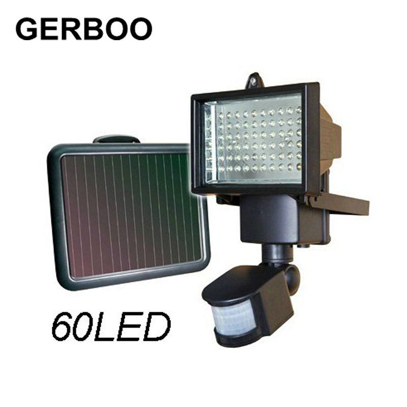 Hot Solar Panel Led Flood Security Solar Garden Light Pir Motion Sensor 60 Leds Path Wall Lamps Outdoor Emergen Solar Motion Lights Motion Sensor Lights Outdoor