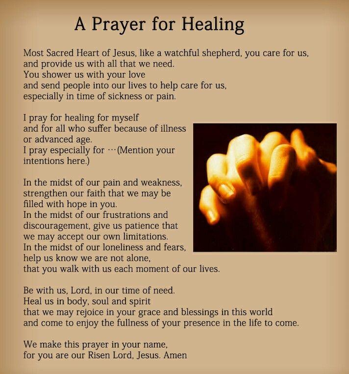 Prayer for Healing | PRAYER POINT | Prayers for healing, Prayer for