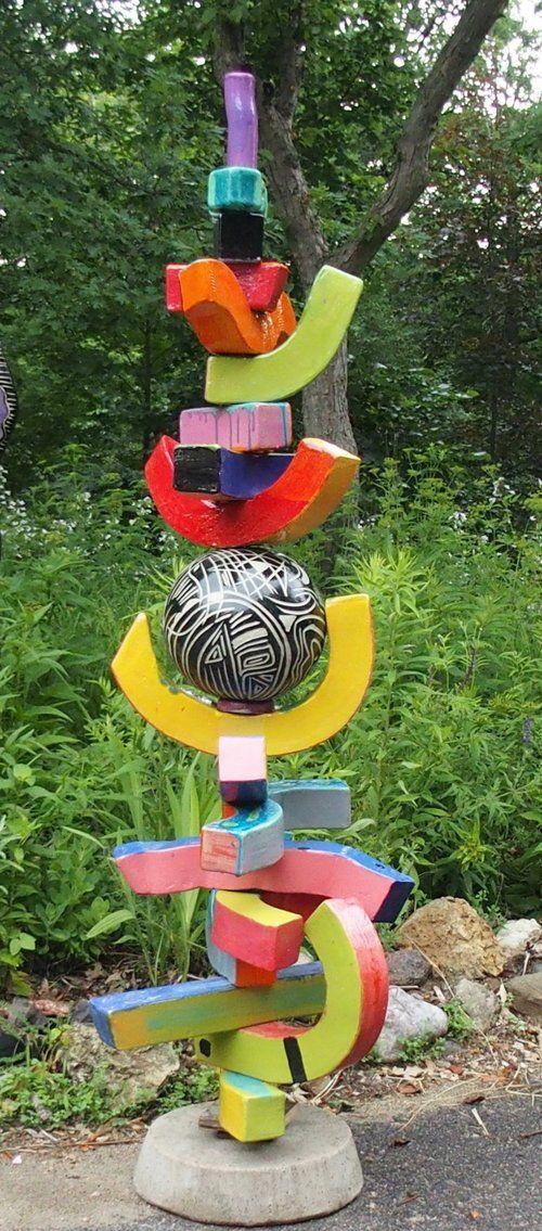 Garden Totems Clay Flowers Arts Ed Wind Chimes Yard Art Bird